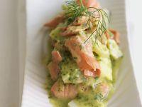 Kartoffel-Lachs-Salat in Kräutermarinade Rezept