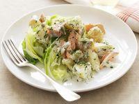 Kartoffel-Lachs-Salat mit Dill