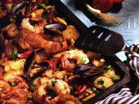 Kartoffel-Paella vom Blech Rezept
