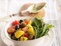 Kartoffel-Rucolasalat mit Tomaten Rezept