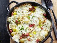 Kartoffel-Sauerkrautauflauf Rezept