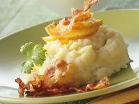 Kartoffel-Sellerie-Stampf mit Apfel und Bacon Rezept