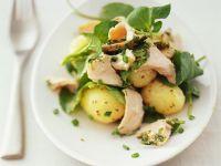 Kartoffel-Spinatsalat mit Thunfisch