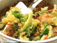 Kartoffel-Wirsing-Gratin auf englische Art (Bubble and squeak) Rezept
