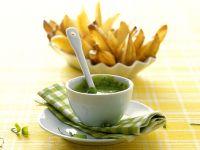 Kartoffelchips mit Bärlauchdip Rezept