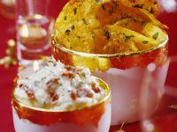 Kartoffelchips mit Joghurtsauce