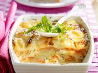 Kartoffelgratin mit Lachs Rezept