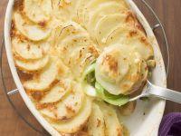 Kartoffelgratin mit Porree Rezept
