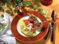 Kartoffelgratin und Paprika zu Lammkoteletts Rezept