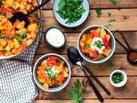 Kartoffelgulasch mit Paprika Rezept