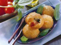 Kartoffelklößchen mit Capresefüllung Rezept