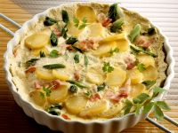 Kartoffelkuchen mit Schinken und Lauch Rezept
