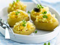 Kartoffeln, gefüllt mit Cheddarkäse Rezept