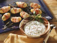 Kartoffeln im Speckmantel mit Radieschenquark Rezept