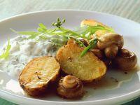 Kartoffeln mit Champignons im Ofen gebacken Rezept