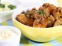 Kartoffeln mit Nusskruste dazu Meerrettichdip Rezept