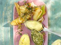 Kartoffeln mit Olivendip Rezept