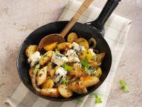 Kartoffelpfanne mit Spargel und Roquefort Rezept