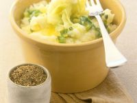 Kartoffelpüree mit Frühlingslauch Rezept