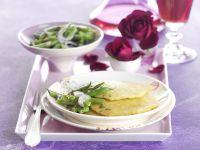 Kartoffelpuffer mit grünem Bohnensalat Rezept