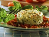 Kartoffelsoufflee mit Tomatensoße Rezept