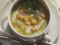 Kartoffelsuppe mit Nordseegarnelen Rezept