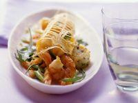 Kartoffeltaler mit Garnelensalat Rezept