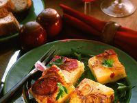 Kartoffeltortilla mit Zwiebeln und Wurst Rezept