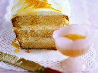 Kastenkuchen mit Orangencremefüllung Rezept