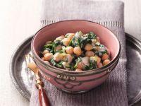 Kichererbsen-Spinat-Salat mit Tahin-Dressing Rezept