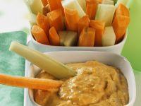 Kichererbsenmus mit Gemüsesticks Rezept