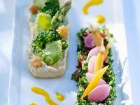 Kichererbsenpüree und Tabouleh-Salat Rezept