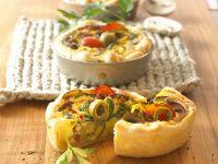 Kleine Gemüse-Quiches Rezept