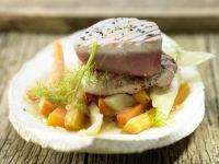Kleine Kalbsrückensteaks und Thunfisch Rezept