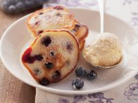Kleines Pfannkuchen mit Blaubeeren Rezept