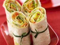 Knackige Gemüse-Wraps Rezept