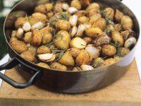 Knoblauch-Kartoffeln aus dem Ofen Rezept