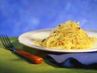 Knoblauch-Spaghettini Rezept