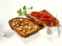 Knoblauch- und Tomaten-Bruschetta Rezept