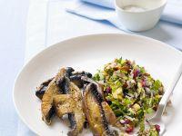Knoblauchpilze mit Reissalat Rezept