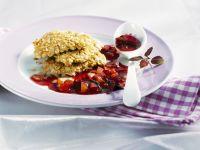 Knusper-Schnitzel vom Huhn mit Zwetschgensoße