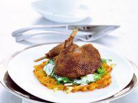 Knusprige Ente mit Rahmwirsing und Rösti Rezept