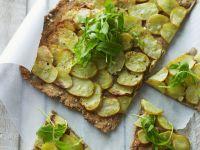 Knusprige Kartoffelpizza mit Rucola Rezept