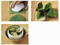 Körbchen aus Bananenblättern Rezept