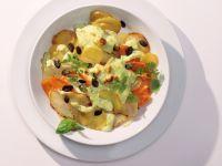 Kohlrabi-Gratin mit Kräuter-Quark Rezept