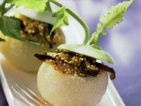 Kohlrabi mit Hirse-Pilz-Füllung Rezept