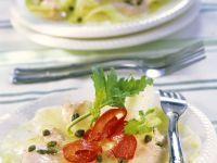 Kohlrabischeiben mit Thunfischsauce Rezept