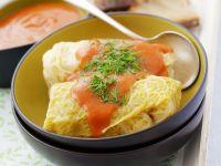 Kohlroulade mit Hackfleisch und Reis gefüllt Rezept