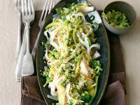 Kokos-Reisnudeln mit Brokkoli Rezept