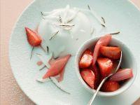 Kokoscreme mit Erdbeer-Rhabarberkompott Rezept